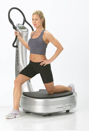 Power Plate Stretching Girl Women
