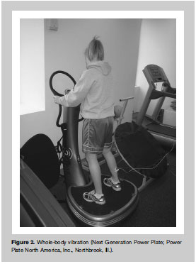 Whole-body vibration (Next Generation Power Plate; Power Plate North America, Inc., Northbrook, Ill.).