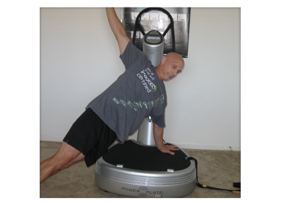 Rodney Corn uses Power plate for personal training exercises